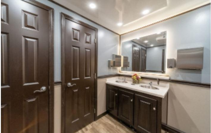 8 Station Private Restroom Trailer - Upgraded Interior, Full Winter (January 2022)