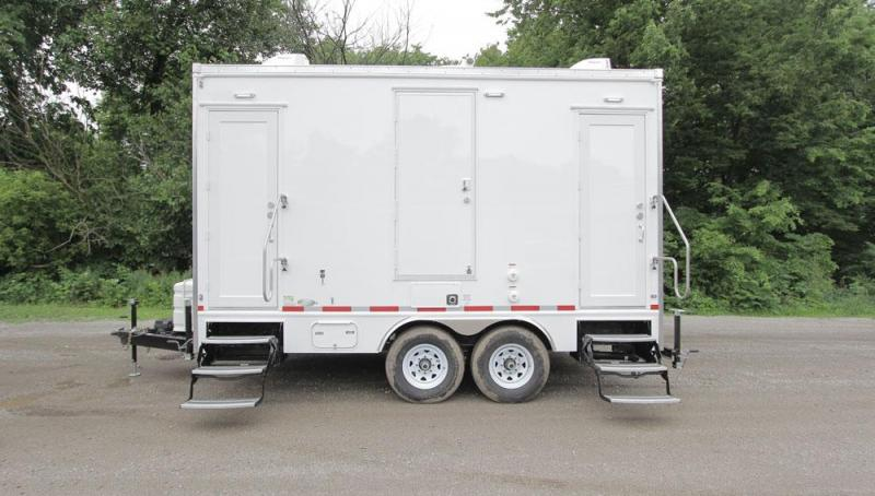 2 Station Shower Restroom Trailer Combo