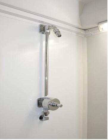 3 Station Restroom Shower Trailer Combo  (Electric)