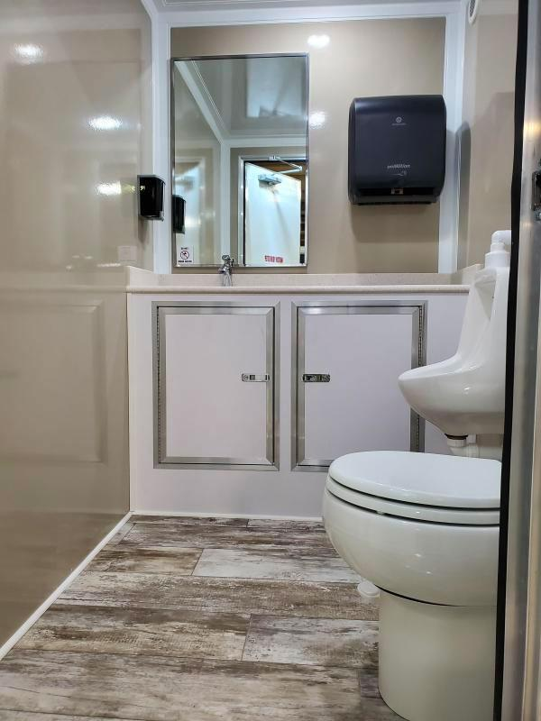 3 Station Restroom Trailer - Private Suites