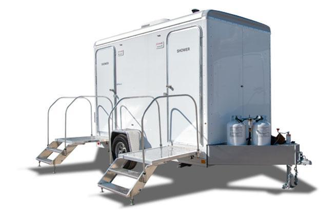 2 Station Restroom Shower Trailer Combo