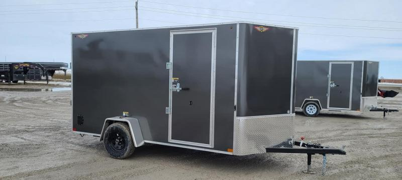 2021 H and H Trailer 6x12 Enclosed Cargo Trailer