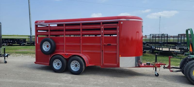 2021 Delta Manufacturing 500 6x16 Bumper Pull Livestock Trailer