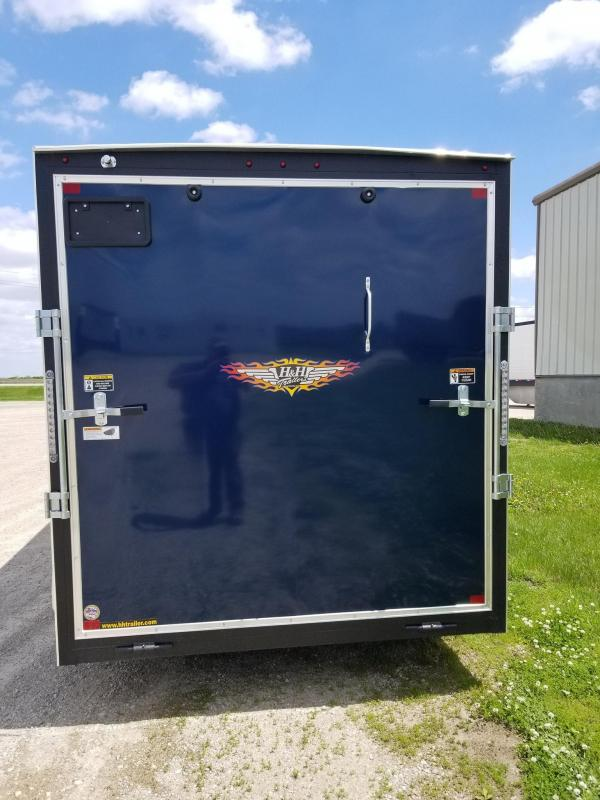 2020 H and H Trailer 7X14 Two Tone Enclosed Cargo Trailer