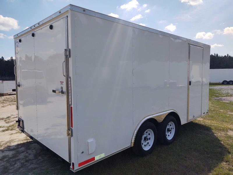 2022 Diamond Cargo 8.5x16 White Enclosed Cargo Trailer