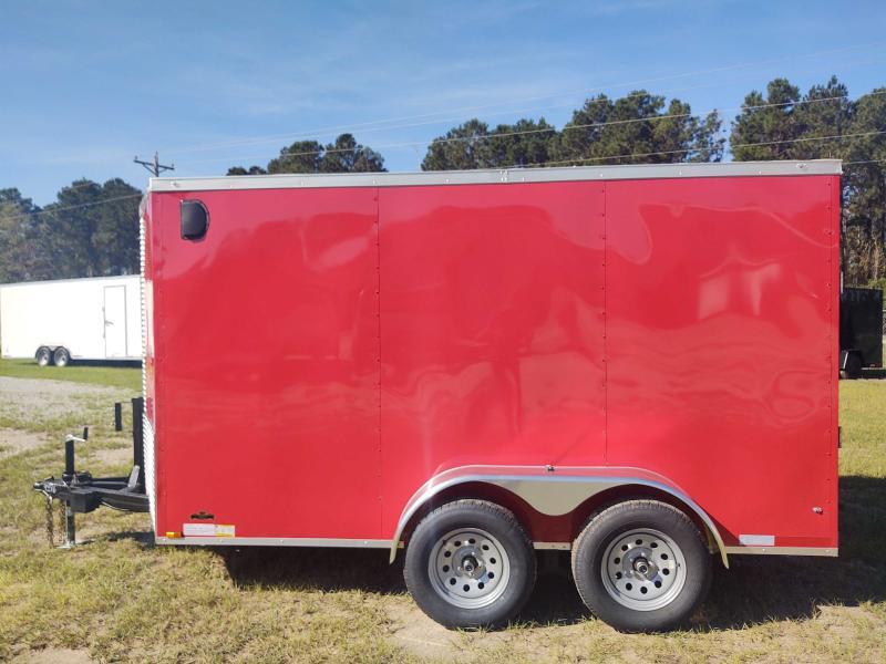 2022 Diamond Cargo 6X12 Tandem Axle RED Enclosed Trailer