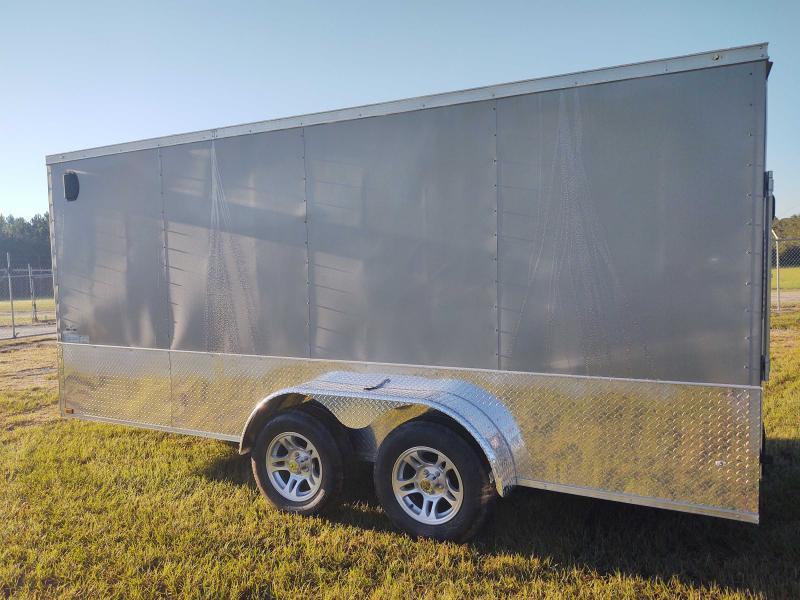 2022 Diamond Cargo 7x16 Tandem Axle Pewter Enclosed Cargo Trailer