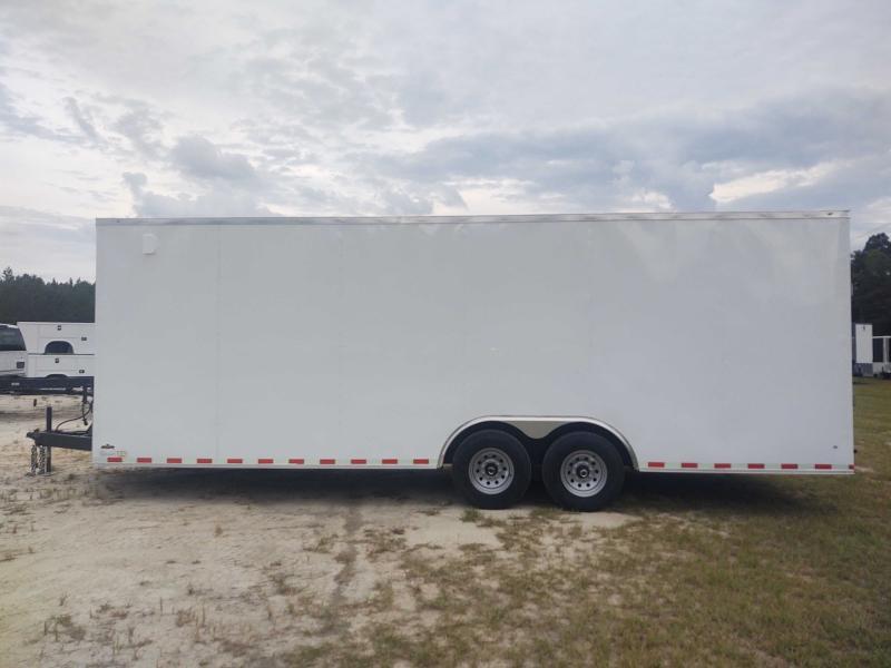 2022 Diamond Cargo 8.5x24 V Nose WHITE Tandem Axle Enclosed Cargo Trailer