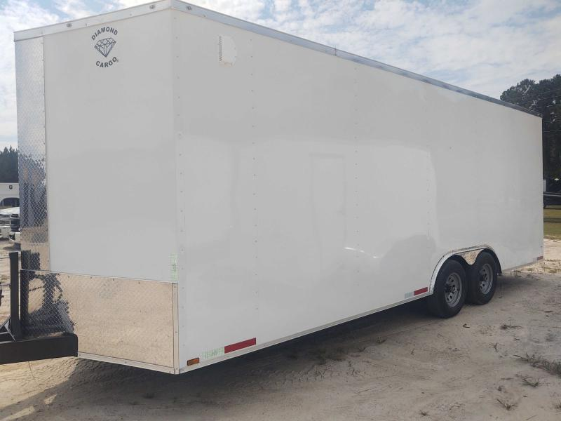 2022 Diamond Cargo 8.5x22 V Nose White Tandem Axle Enclosed Cargo Trailer