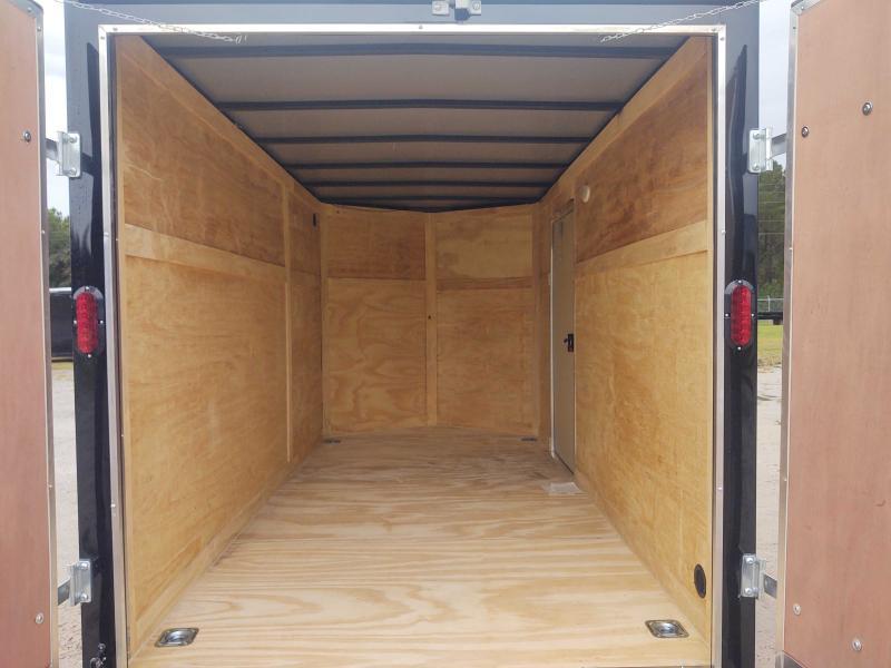 2022 Diamond Cargo 6x12 Single Axle Enclosed V-Nose Black Cargo Trailer