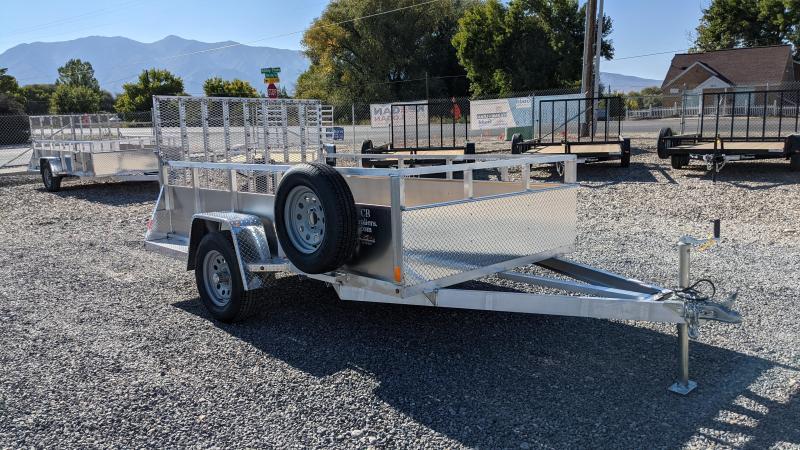 New! 2022 C&B 6x10 Aluminum Utility Trailer w/ Solid Sides