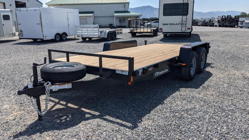 New! 2021 C&B 7x16 Car Hauler 10k Equipment Trailer