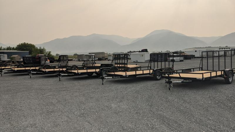"""New! 2022 C&B 81""""x14' 'Double Barrel' Utility Trailer w/ Brakes and Spare"""