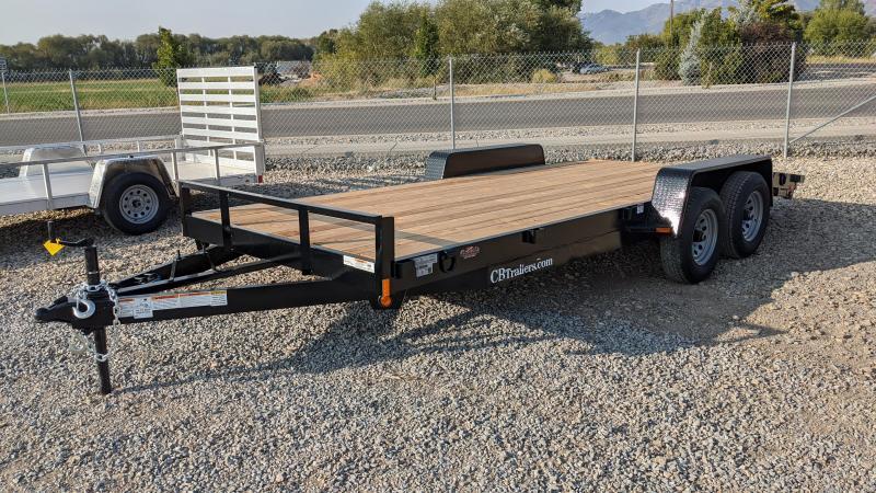 2021 C&B 7x18 10k Car Hauler/Equipment Trailer