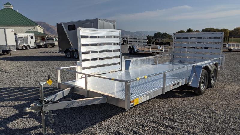 New! 2021 Cargo Mate 6.5x18 All-Aluminum Utility Trailer