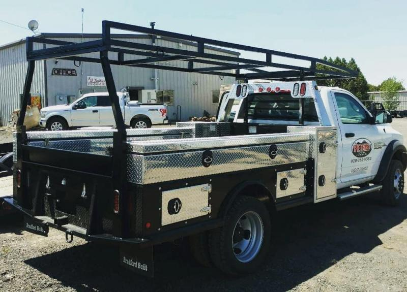 Bradford Built Steel Contractors Full Skirted Truck Bed