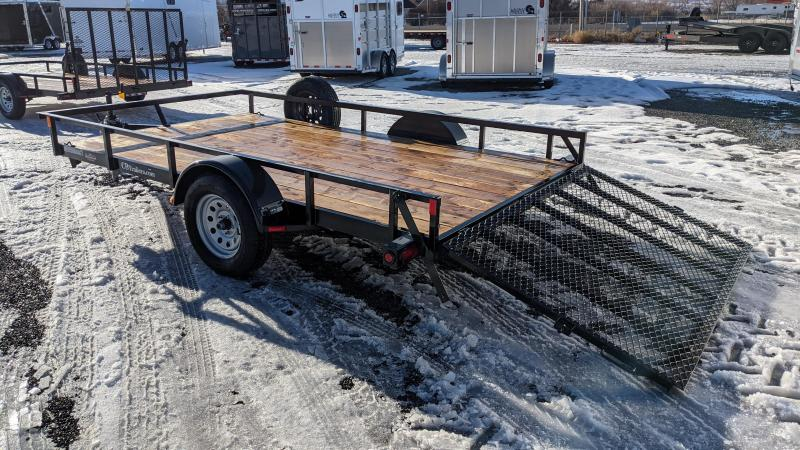 New! 2021 C&B 12' Single Axle Utility Trailer W/ Spare Tire