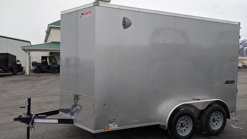 New! 2021 Pace American 7X12 Enclosed Cargo Trailer W/ Ramp Door
