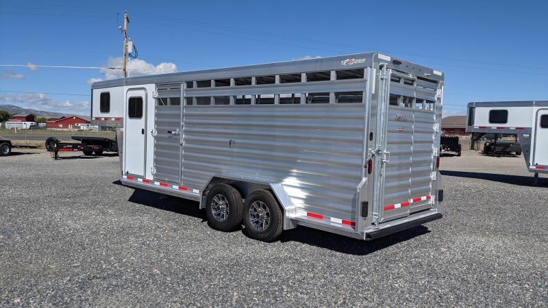 New! 2022 Exiss 20' Stock Combo Livestock Trailer