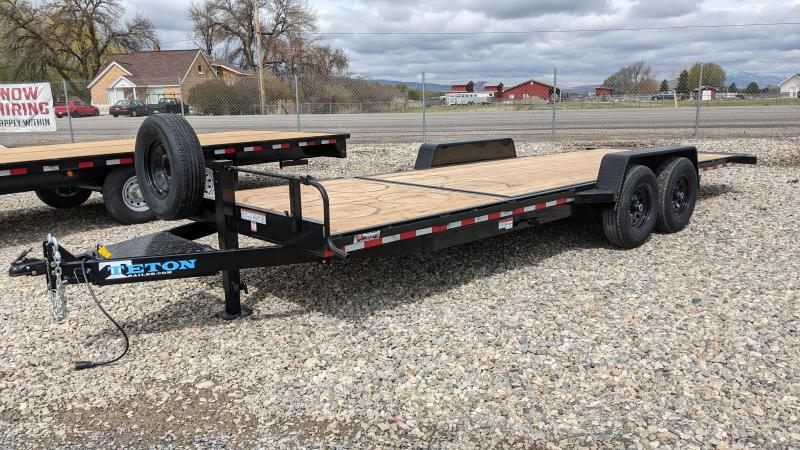 New! 2021 Teton 22' 14k 3/4 Gravity Tilt Trailer