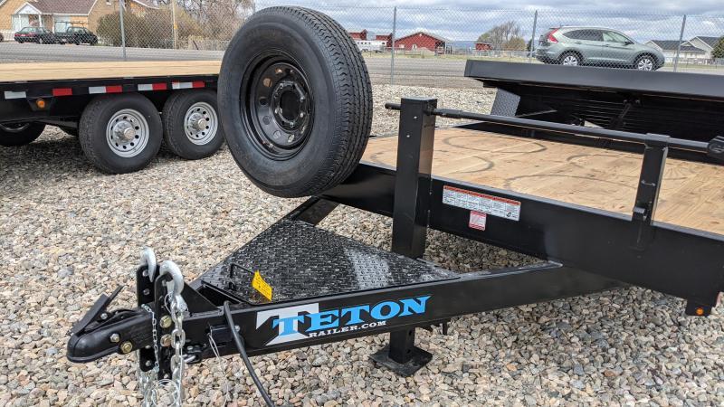 New! 2021 Teton 22' 14k 3/4 Gravity Tilt Trailer
