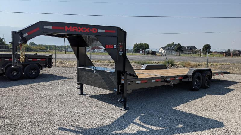 """New! 2022 MAXXD G8X - 24' X 83""""- 16K Gooseneck Tilt Equipment Trailer"""