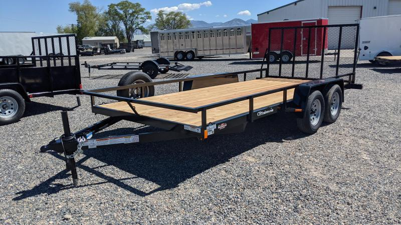 """New! 2022 C&B 81""""x16' 'Double Barrel' Utility Trailer w/ Brakes and Spare"""