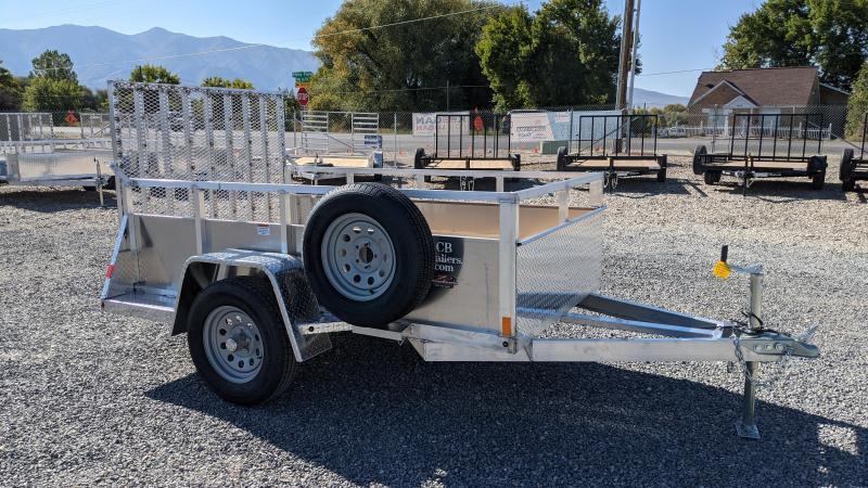 New! 2022 C&B 5x8 Aluminum Utility Trailer w/ Solid Sides