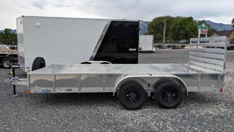 """New! 2022 Everlite 82""""x16' All-Aluminum Utility Trailer w/ Sides"""