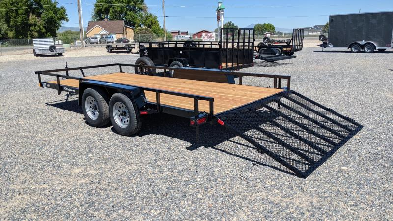 """New! 2021 C&B 81""""x16' 'Double Barrel' Utility Trailer w/ Brakes and Spare"""