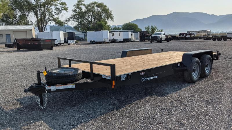 New! 2022 C&B 18' 10K Car Hauler / Equipment Trailer