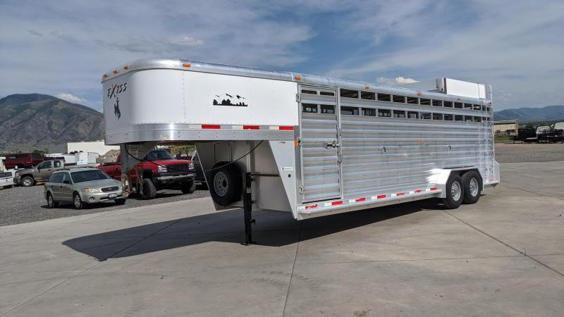 2013 Exiss Trailers 24' Stock Trailer Livestock Trailer