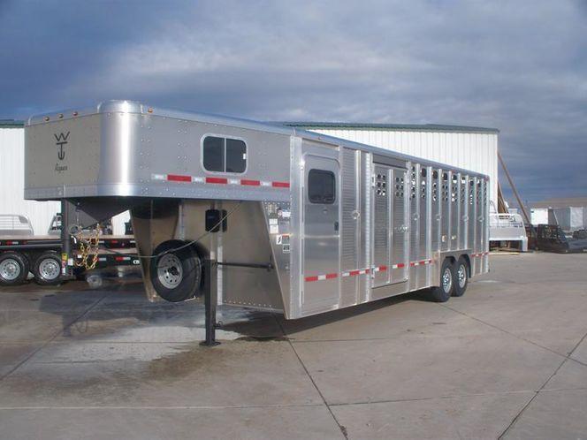 2021 Wilson Trailer Company Roper Aluminum Stock Combo Trailer Livestock Trailer