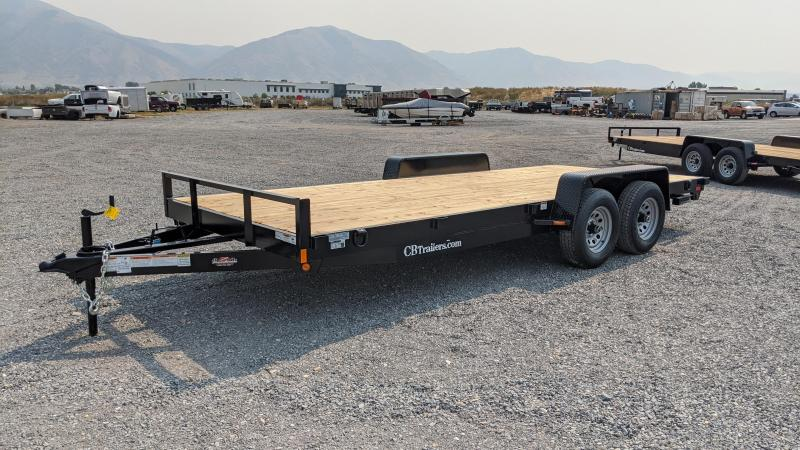 New! 2021 C&B 18' 10K Car Hauler / Equipment Trailer