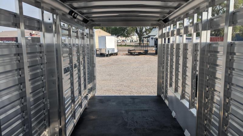 New! 2022 Exiss 24' Stock Combo Livestock Trailer