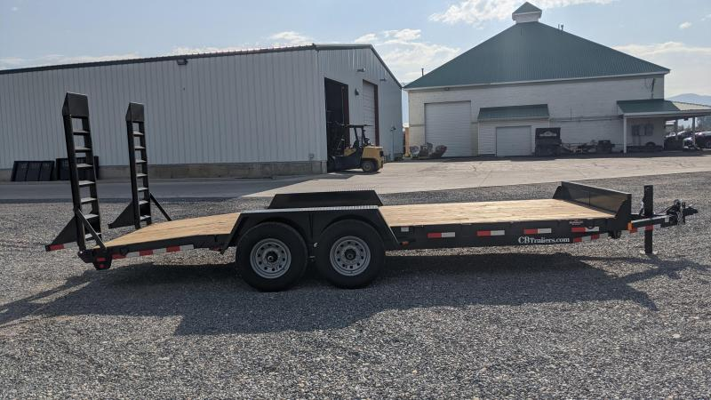 New! 2021 C&B 20' 14k Equipment Trailer W/ Stand-Up Ramps