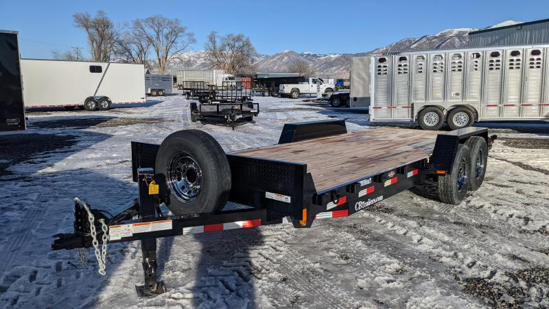 New! 2021 C&B 20' 14k Equipment Trailer W/ Slide-In Ramps