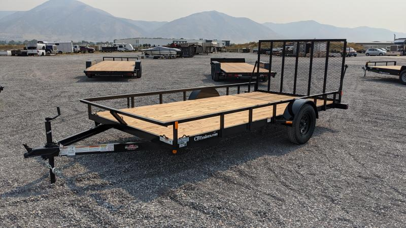 New! 2021 C&B 14' Single Axle Utility Trailer