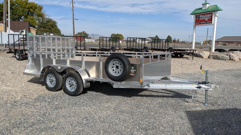 New! 2022 C&B 7x14 Aluminum Utility Trailer w/ Solid Sides