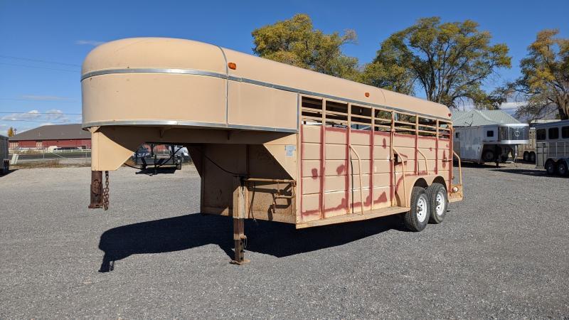 1981 W-W Trailer 6x18 Gooseneck Livestock Livestock Trailer