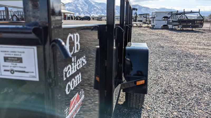 New! 2022 C&B 7x10 Utility Trailer w/ Solid Sides