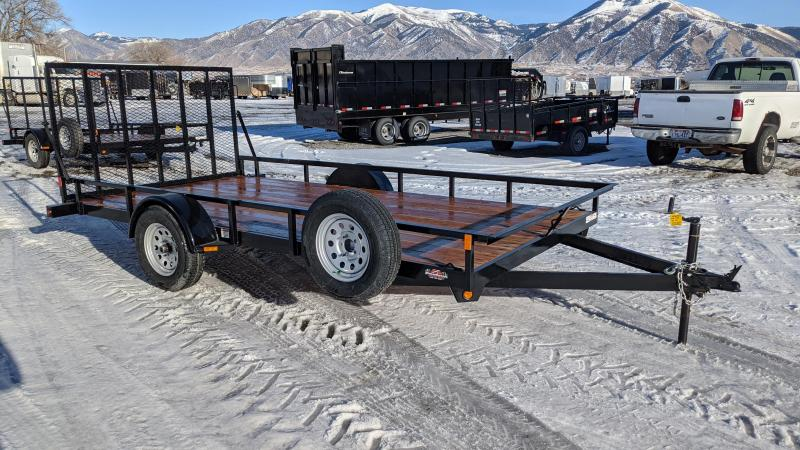 New! 2021 C&B 14' Single Axle Utility Trailer W/ Spare Tire