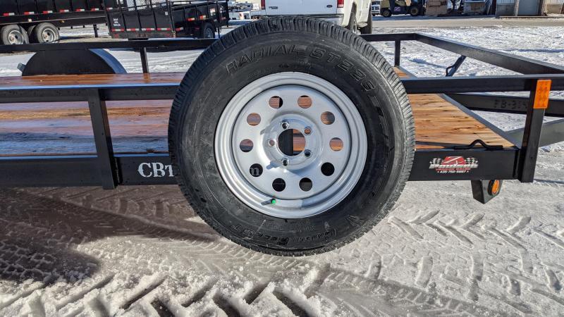 New! 2021 C&B 14' Single Axle Utility Trailer W/ Spare Tire
