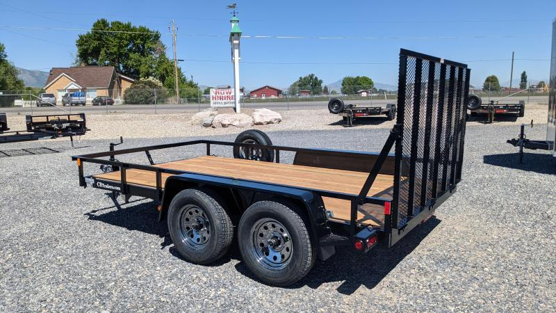 """New! 2021 C&B 81""""x12' 'Double Barrel' Utility Trailer w/ Brakes and Spare"""