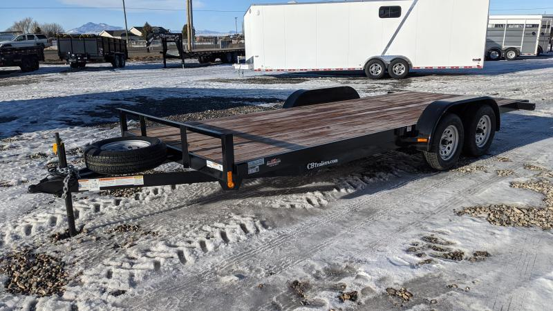 New! 2021 C&B 18' 7K Economy Car Hauler / Equipment Trailer