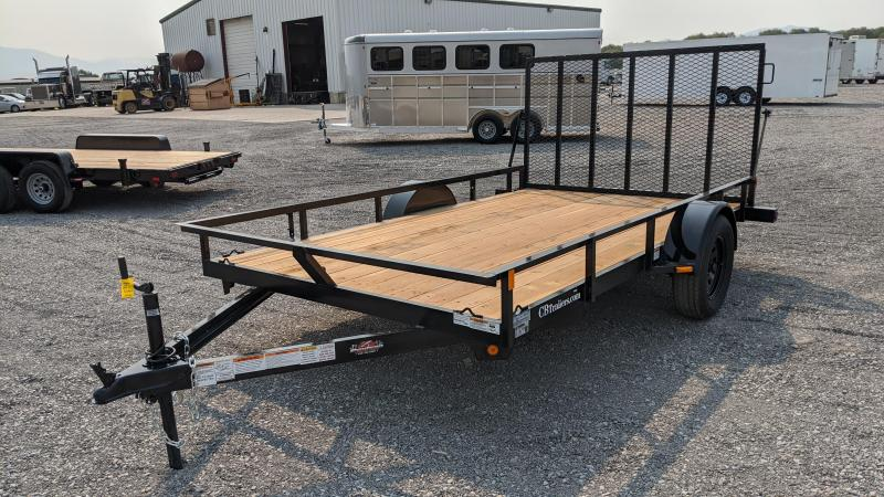 New! 2021 C&B 12' Single Axle Utility Trailer