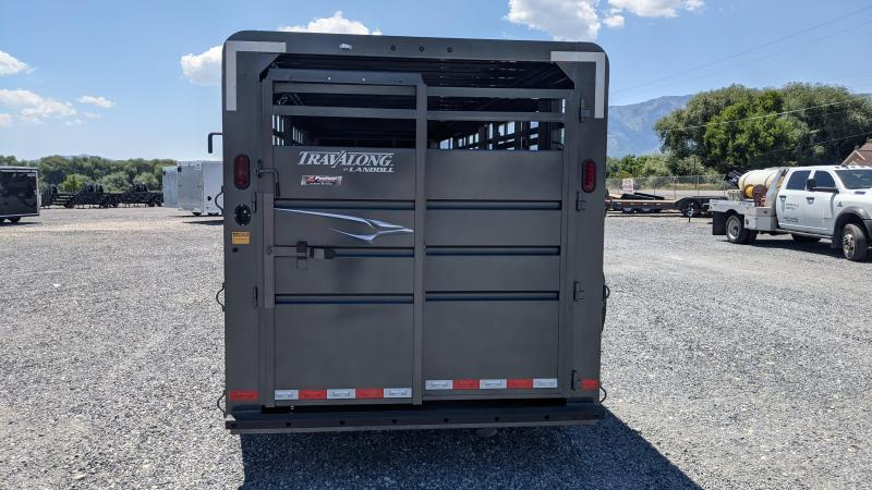 New! 2021 Travalong 24' Steel Gooseneck Livestock Trailer