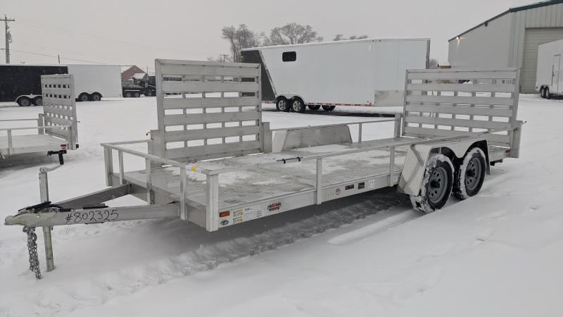 New! 2021 Cargo Mate 6.5x18 All-Aluminum Utility Trailer