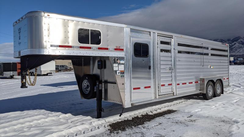 New! 2021 Wilson 24' Stock Combo Livestock Trailer w/ Slat Sides