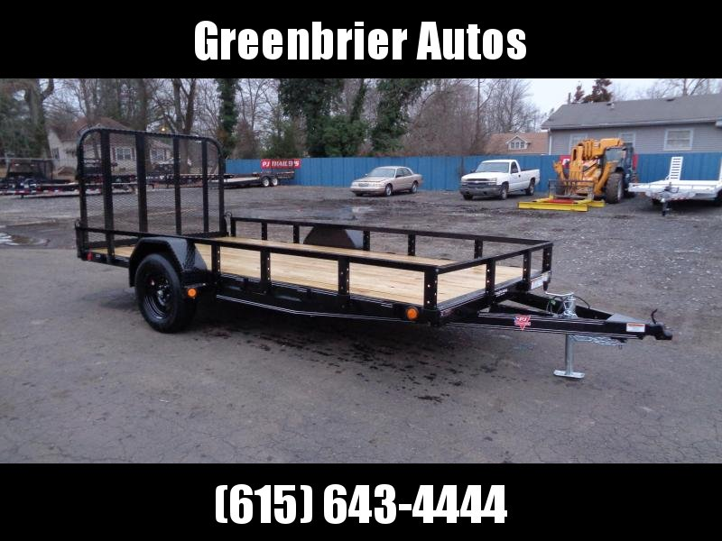 "2021 PJ Trailers 14' x 77"" Single Axle Channel Utility (U7) Utility Trailer"